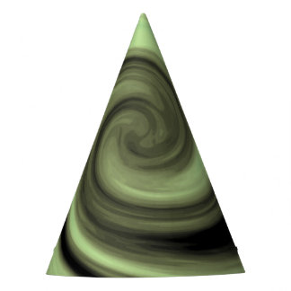 Greenish Swirl Party Hat