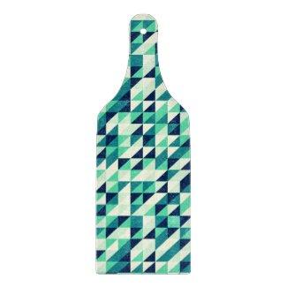 Greenish Triangle Pattern Cutting Boards