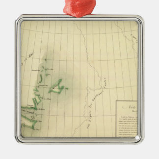 Greenland Atlas Map Metal Ornament