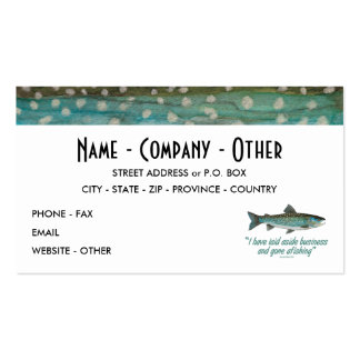 Greenland Char Fishing Business Card