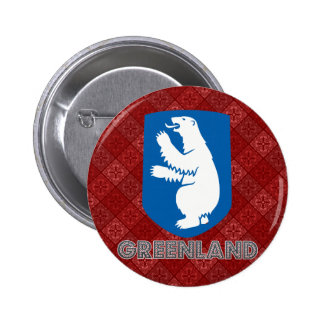 Greenland Coat of Arms Pinback Buttons