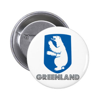 Greenland Coat of Arms Pinback Button