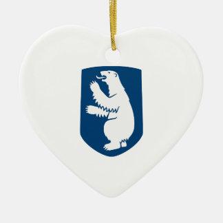 Greenland Coat of Arms Ceramic Ornament