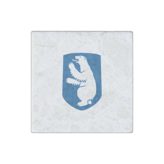 Greenland Coat of Arms Stone Magnet
