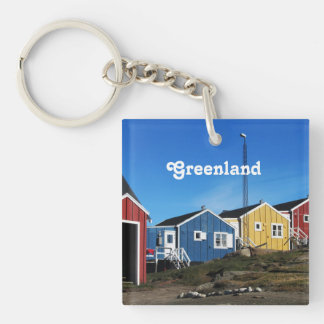 Greenland Countryside Square Acrylic Key Chain