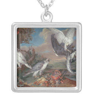 Greenland Cyr Falcons Square Pendant Necklace