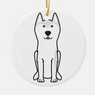 Greenland Dog Cartoon Ceramic Ornament