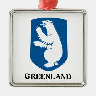 GREENLAND - emblem/symbol/coat of arms/flag Metal Ornament