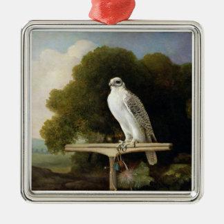 Greenland Falcon (Grey Falcon), 1780 (oil on panel Metal Ornament