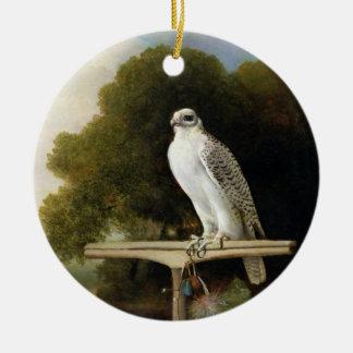 Greenland Falcon (Grey Falcon), 1780 (oil on panel Ornaments