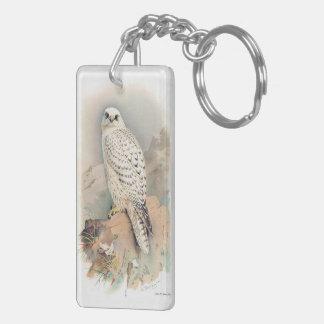 Greenland Falcon Keychain