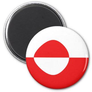 Greenland Fisheye Flag Magnet