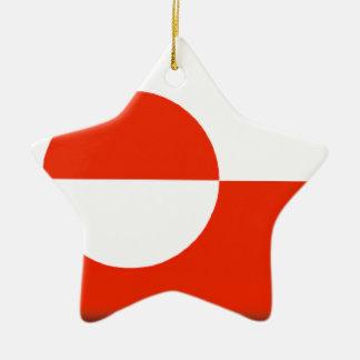 Greenland Flag Ceramic Ornament