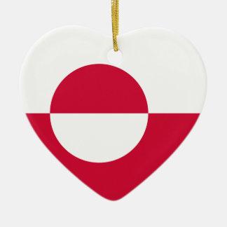 Greenland Flag Heart Ornament