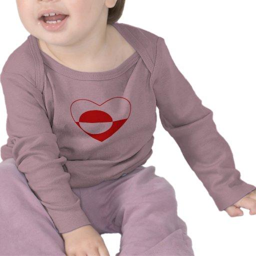 Greenland Flag Heart T-Shirt