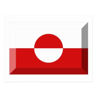 Greenland Flag Jewel Postcard