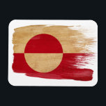 "Greenland Flag Magnet<br><div class=""desc"">Original flag design looks like it was painted on! Commemorate your world travels, celebrate your heritage or show everyone how much you love your home! This image is available on a variety of products. Check out all of our other designs at http://www.zazzle.com/zipperedflags Do you have a request or questions? Contact...</div>"