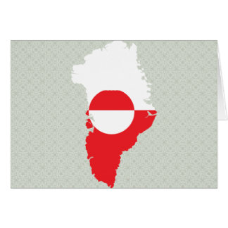 Greenland Flag Map full size Cards