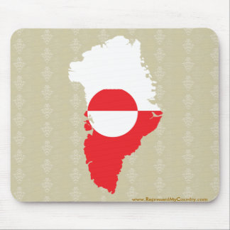 Greenland Flag Map full size Mouse Pad