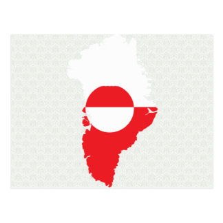 Greenland Flag Map full size Postcard
