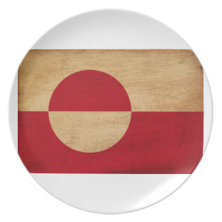 Greenland Flag Party Plate