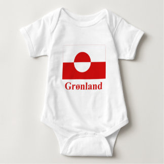 Greenland Flag with Name in Danish Baby Bodysuit