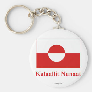 Greenland Flag with Name in Kalaallisut Key Chains