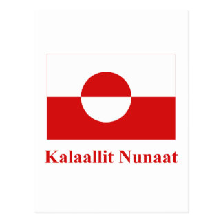 Greenland Flag with Name in Kalaallisut Postcard