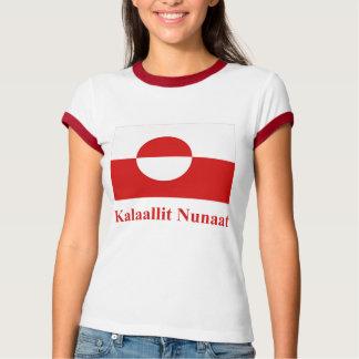 Greenland Flag with Name in Kalaallisut T-shirt