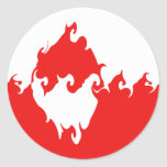 Greenland Gnarly Flag Classic Round Sticker