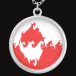 Greenland Gnarly Flag Silver Plated Necklace
