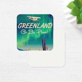 Greenland 'Go By Plane!' Square Business Card