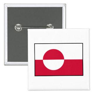 Greenland - Greenlandic Flag Button