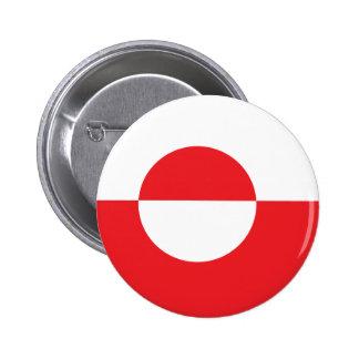 Greenland High quality Flag Pinback Button