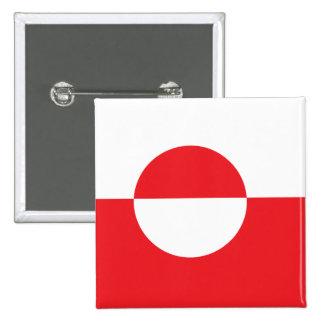Greenland High quality Flag Button