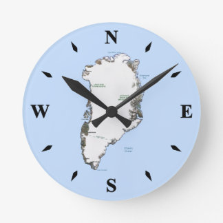Greenland Map Clock