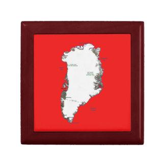 Greenland Map Gift Box