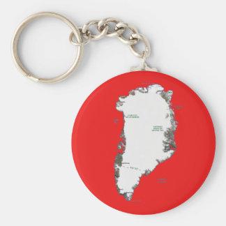Greenland Map Keychain