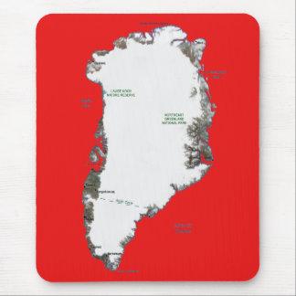 Greenland Map Mousepad