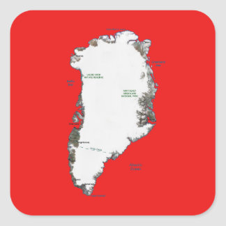 Greenland Map Sticker