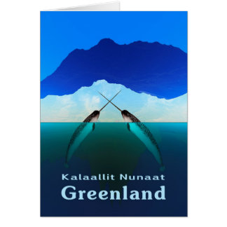 Greenland - Narwhal Greeting Card