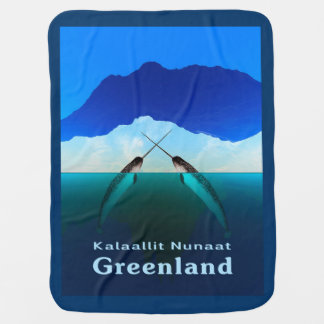 Greenland - Narwhal Receiving Blanket