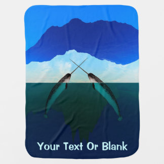Greenland - Narwhal Swaddle Blankets