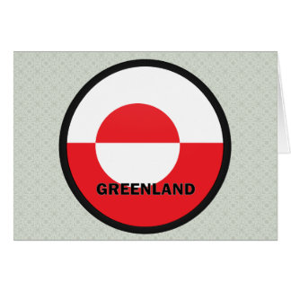 Greenland Roundel quality Flag Greeting Card