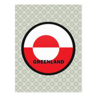 Greenland Roundel quality Flag Postcard