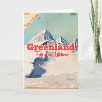 Greenland vintage travel poster