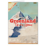 Greenland vintage travel poster card