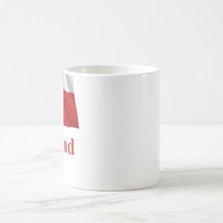 Greenland Waving Flag with Name in Danish Coffee Mug