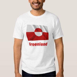 Greenland Waving Flag with Name Tee Shirt