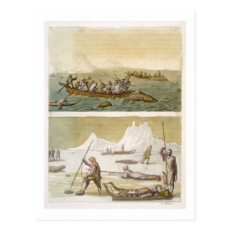 Greenland: Whale fishing and Seal hunting, from 'L Postcard
